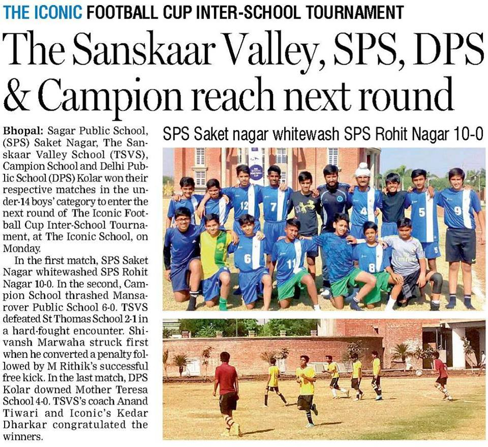football tournament, day boarding schools in bhopal, cbse schools in bhopal mp