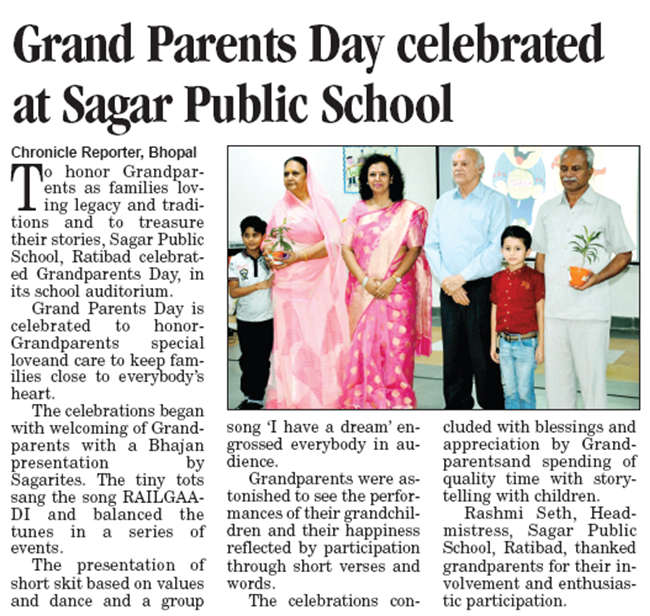 grand parents day, sps ratibad, sagar public school ratibad, cbse schools, cbse schools in bhopal